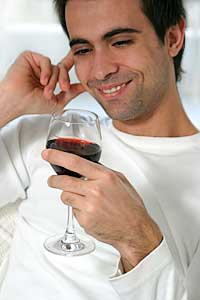 Men who drink red wine may reduce their risk of prostate cancer
